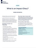 An Impact Diary records the impact that a natural disaster has had on your farm.