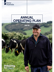 Dairy Australia Annual Operating Plan 2021-22 cover