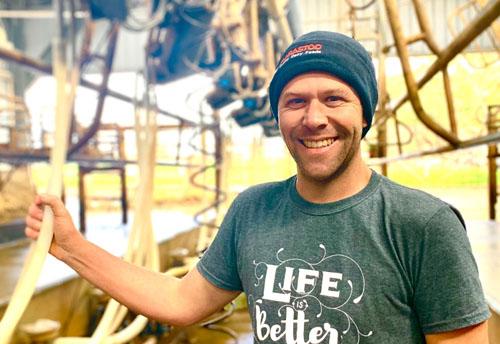 Strathalbyn farmer Brett Fiebig - One of top five per cent producers in the 2020 Australian Milk Quality Awards