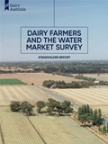Dairy Farmers and the Water Market Survey Stakeholder Report cover