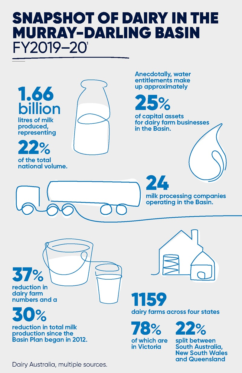 Snapshot of Dairy in the Murray-Darling Basin  - Infographic part 1
