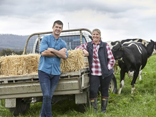 Photo of Dairy Matters ambassadors Jonathan Brown and Trish Hammond