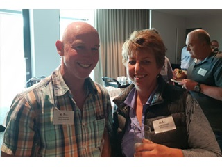 Scott Hamilton and Jacqui Biddulph at the annual Western Dairy Spring Forum